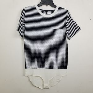 NWOT Madewell striped round neck bodysuit